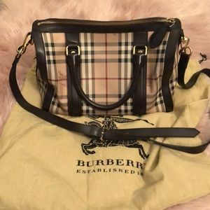 Burberry Haymark Medium Bag with strap.